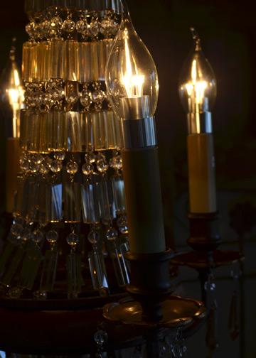 ベリーニシャンデリア4球, アンティークシャンデリア, クリスタルガラス, ドロップシャンデリア, アンティーク照明 6