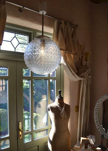 バルーンシェードランプ,インダストリアルライト,ガラスシェード照明,アンティーク照明,アンティークライト,フレンチアンティーク照明,通販1
