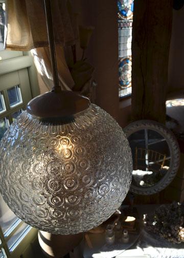 バルーンシェードランプ,インダストリアルライト,ガラスシェード照明,アンティーク照明,アンティークライト,フレンチアンティーク照明,通販2